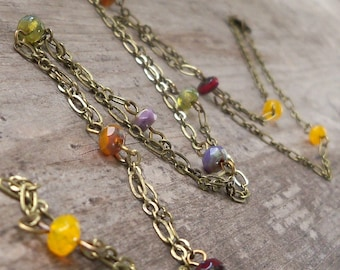 Long Necklace - Gift for Women - Handmade Necklace - Layering Necklace - Boho Necklace - Long Boho Necklace - Autumn Series16