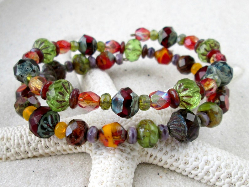 Bead Jewelry  Gift Idea  Handmade Bracelet  Boho Bracelet  image 0