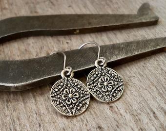 Titanium Dangle Earrings - Flower Earrings - Floral Earrings - Earrings for Sensitive Ears - Gift for Wife