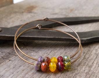 Hypoallergenic Pure Titanium Earrings - Hoop Earrings - Autumn Jewelry - Hypoallergenic Hoop Earrings - Autumn Series16