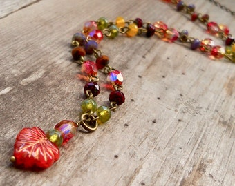 Maple Leaf Jewelry - Autumn Necklace  - Gift for Her Under 30 - Statement Necklace - Bohemian Necklace - Autumn Series16