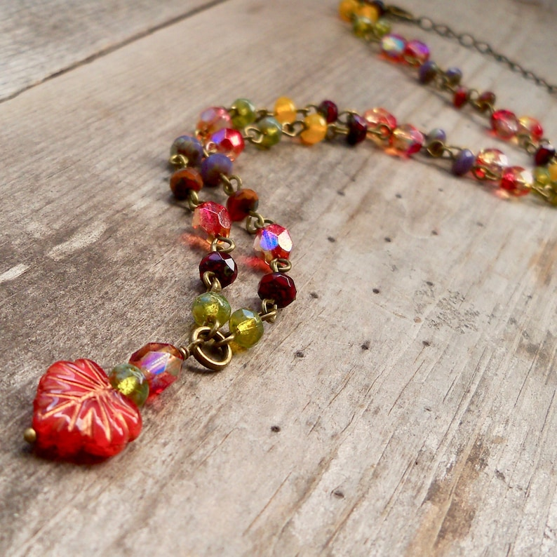 Maple Leaf Jewelry  Autumn Necklace   Gift for Her Under 30 image 0