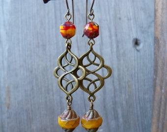 Boho Earrings - Fall Earrings - Autumn Earrings - Autumn Jewelry - Autumn Series16