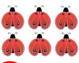 Mini Kleine Marienkäfer 6pc Set Rot Petite Lady Bug Bug Dekorationen  Geburtstag Party Girl Zimmer Kinderzimmer Baby Dusche Handwerk Schlafzimmer  Dekor ...