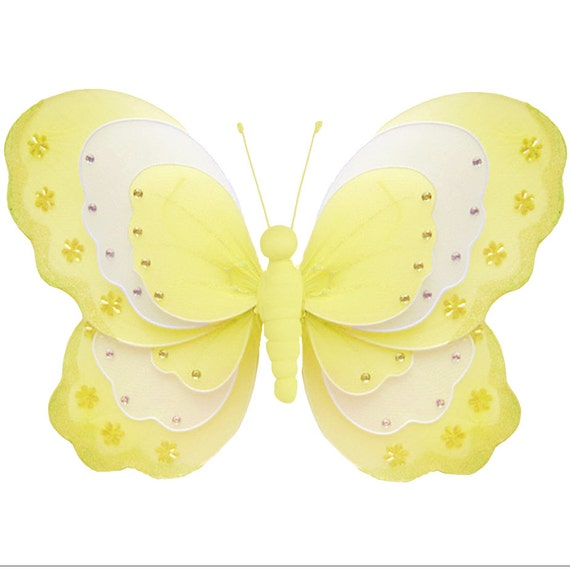 Butterfly Wall Decorations Nylon Hanging Fake Fabric   Etsy