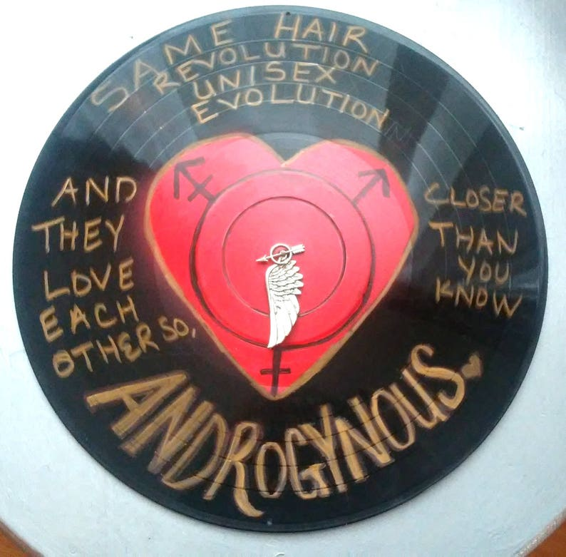 Androgynous Song Lyrics Record Album Art Made From An Upcycled image 0
