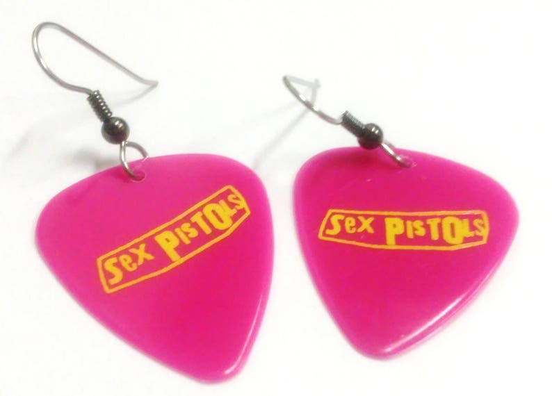 Guitar Pick EarringsThe Sex Pistols image 0