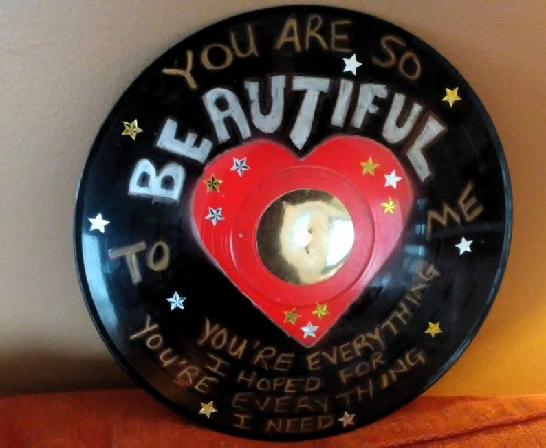 You Are So Beautiful Song Lyrics Record Album Art Made From An image 0