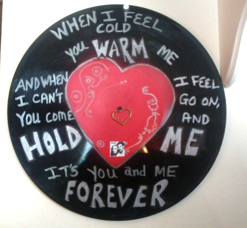 Sarah Smile Song Lyrics Record Album Art Made From An Upcycled image 0