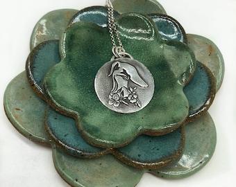 Greyhound Necklace - Greyhound Jewelry - Whippet - Galgo - Italian Greyhound - Oliver's Garden - Fine Silver - Greyhound - Ready To Ship