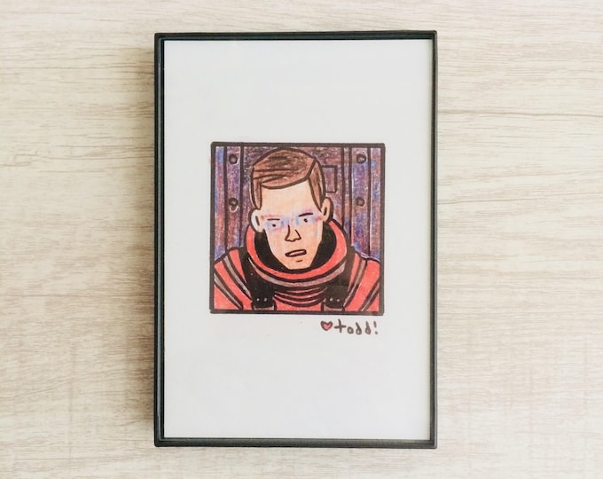 Open the pod bay doors HAL - 2001: A Space Odyssey, 4 x 6 inch Print, Stanley Kubrick, Art, Movies, Pop Culture, Wall Decor