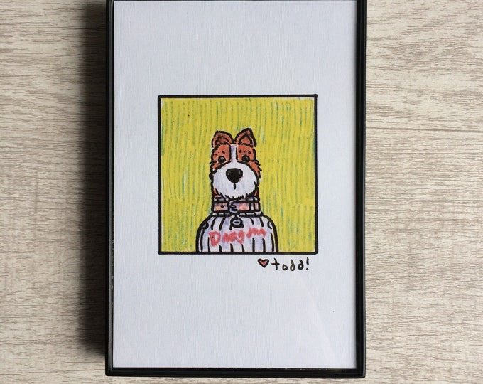 Isle of Dogs - Boss, Print, 4 x 6 inches, Wes Anderson, movies, film geek, framed artwork, wall decor, art, Bill Murray