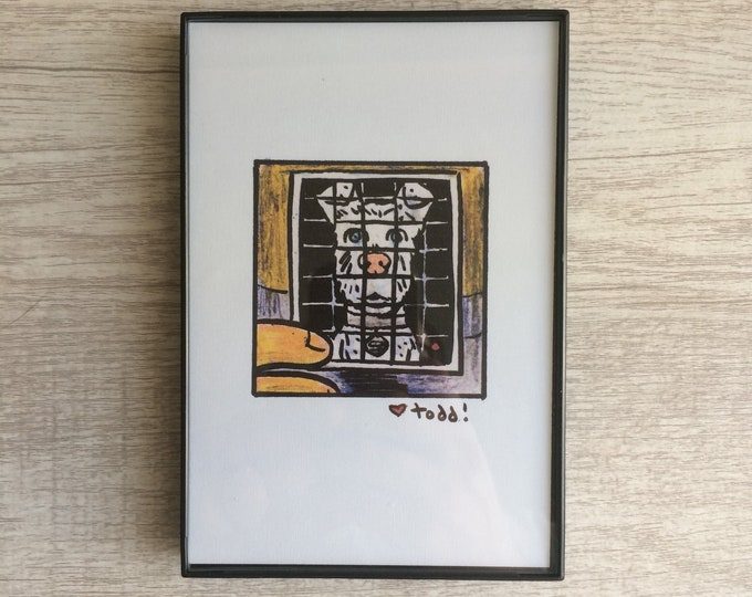 Isle of Dogs - Spots, Print, 4 x 6 inches, Wes Anderson, movies, film geek, framed artwork, wall decor, art