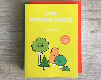 The Woodlands, Comic Book, 5 x 7 inches, 50 pages, full color, self published, art, comics, all ages, kids, graphic novel, books, trees