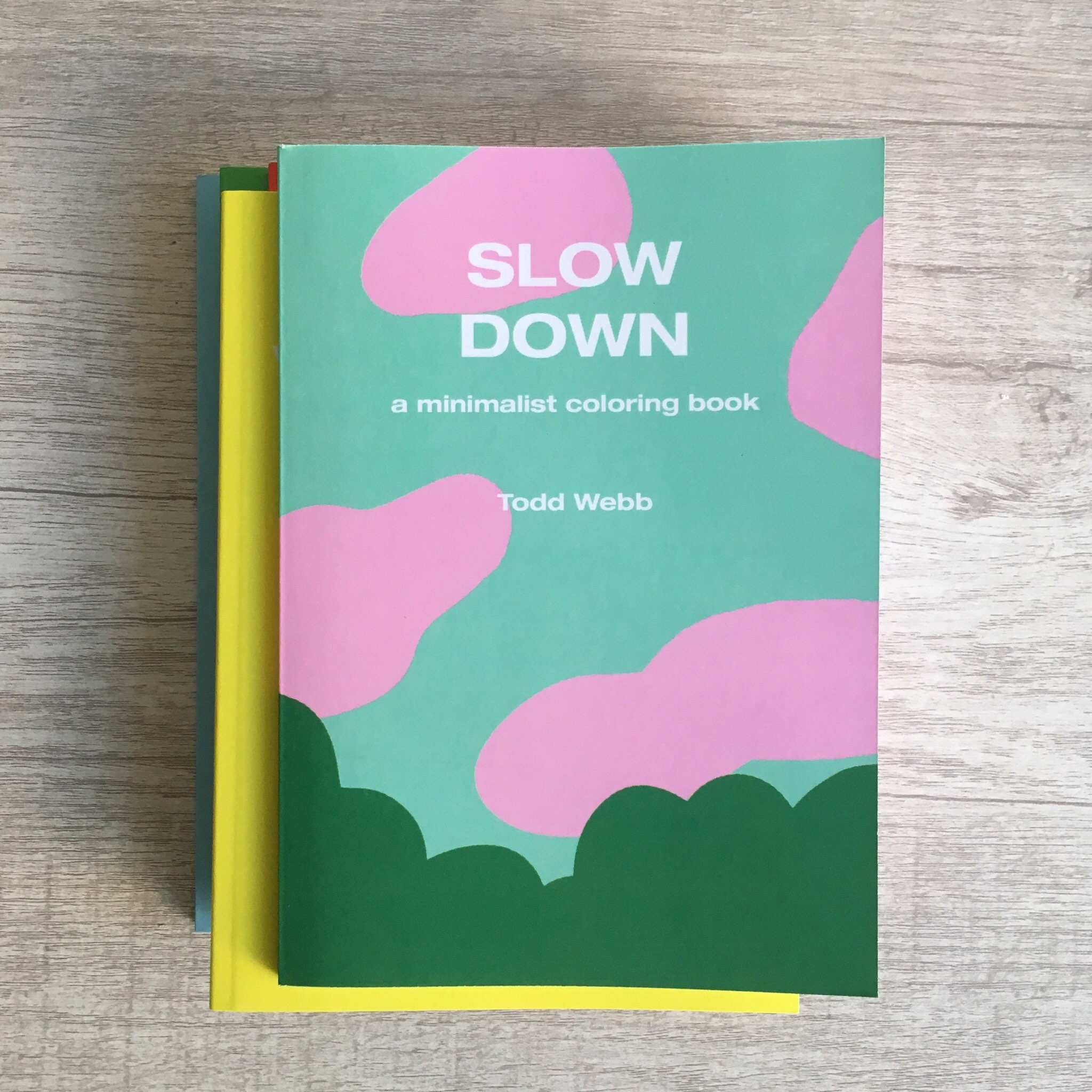 Slow Down A Minimalist Coloring Book 5 x 7 inches 80 | Etsy