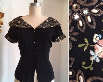 e28c34546030fc 1940s rayon blouse