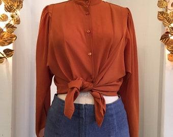 1bf6425aaa7c47 Pumpkin orange blouse
