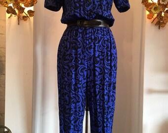 120c5e749074 1980s rayon jumpsuit