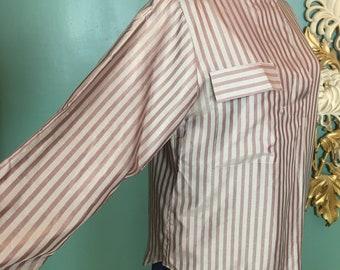 Blouse,Striped,Rafaella Woman,18,Coral/&Pink Satin