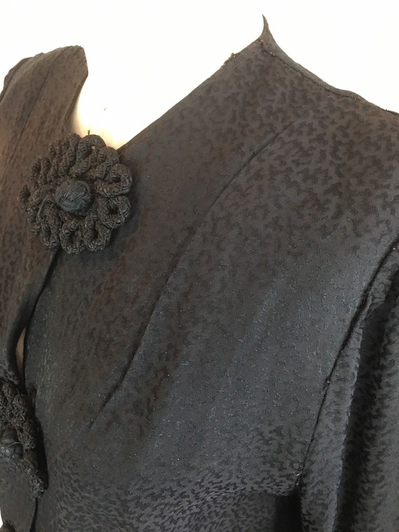 1940s black blouse, vintage 40s blouse, boxy blou… - image 5