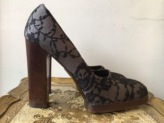 1990s platform shoes, vintage 90s shoes, designer