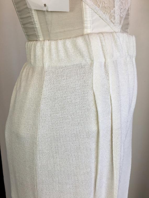 1980s knit pants, vintage 80s pants, wide leg pan… - image 5