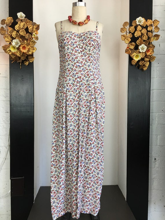 1990s jumpsuit, floral jumpsuit, wide leg jumpsuit