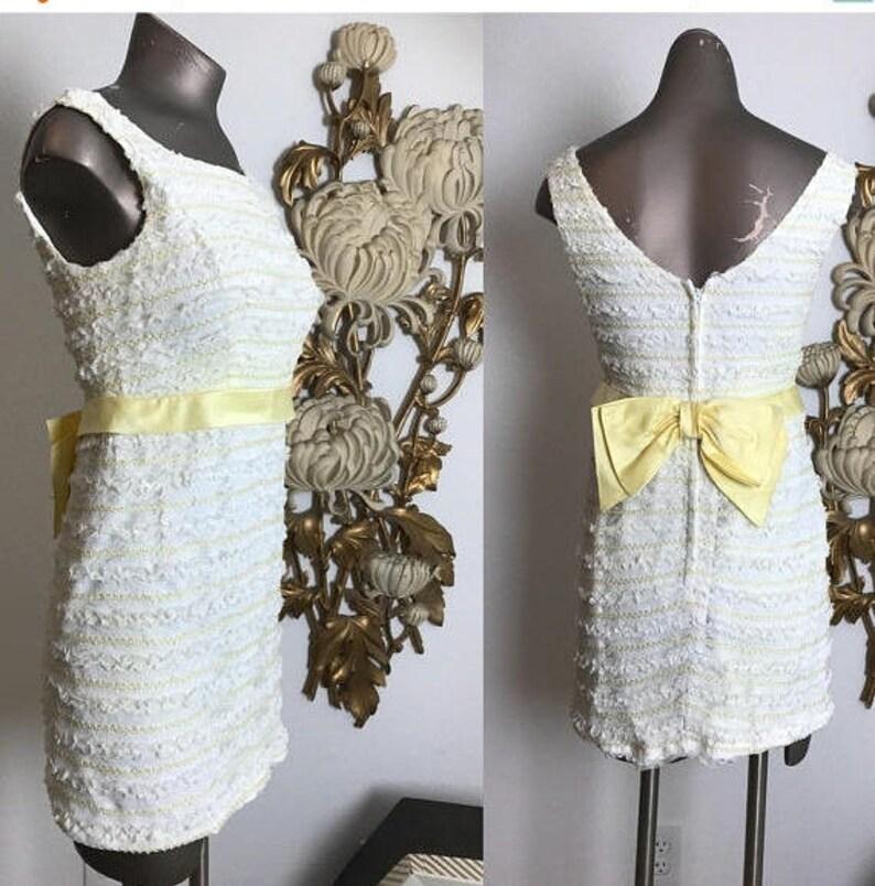 1fa5d145e5e 1960s mini dress white lace dress vintage mod dress size