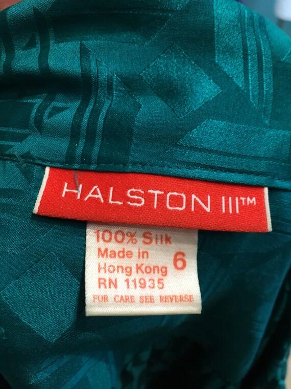 1980s silk dress, Halston dress, sexy secretary, … - image 2