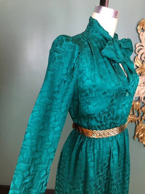 1980s silk dress, Halston dress, sexy secretary, … - image 5