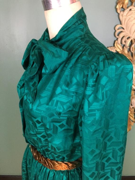 1980s silk dress, Halston dress, sexy secretary, … - image 7