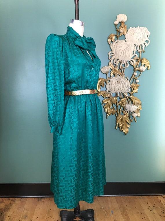 1980s silk dress, Halston dress, sexy secretary, … - image 6