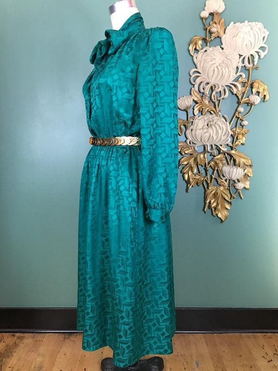 1980s silk dress, Halston dress, sexy secretary, … - image 8