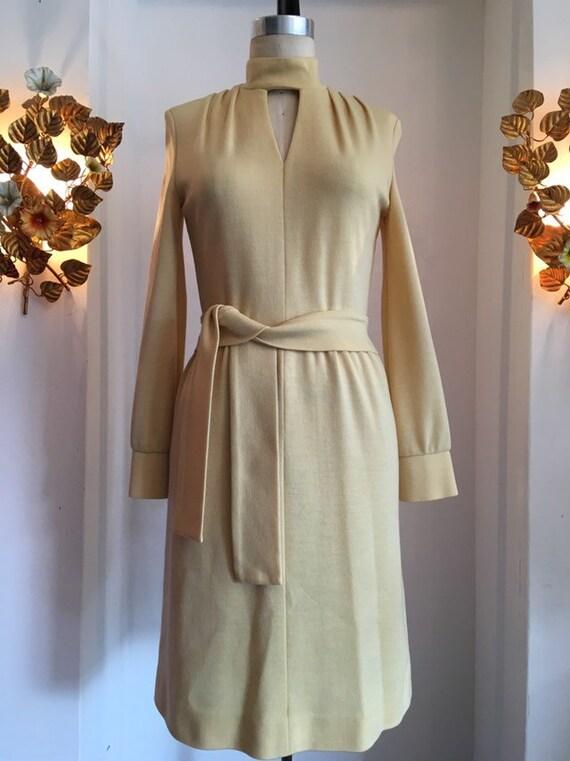 1960s sweater dress, vintage 60s dress, butte knit