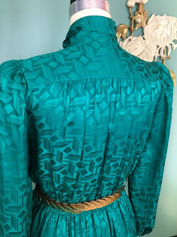 1980s silk dress, Halston dress, sexy secretary, … - image 10