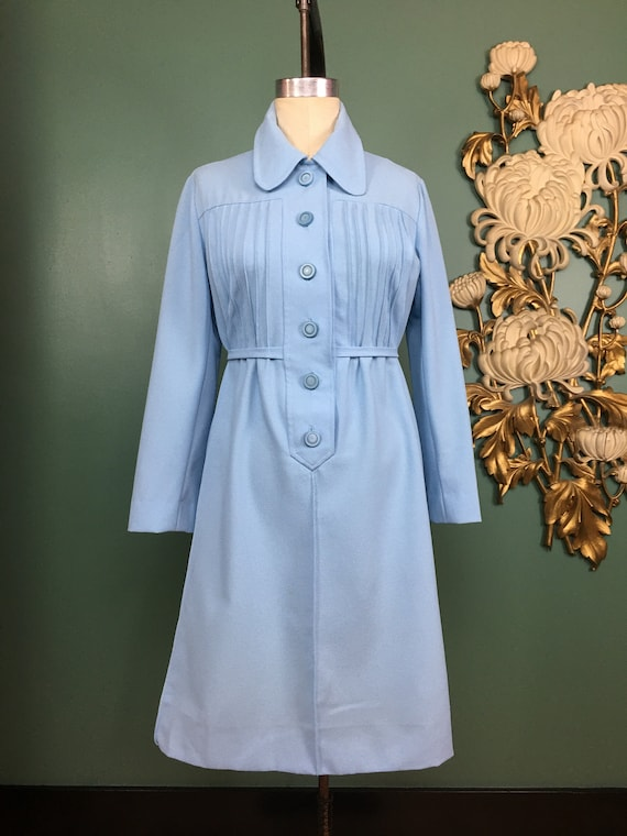 1960s mod dress, vintage 60s dress, baby blue dres