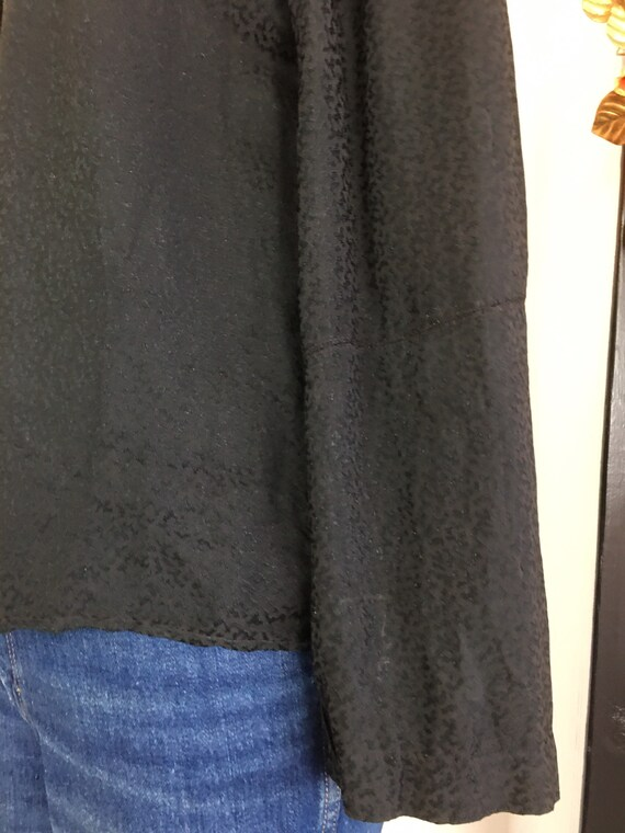 1940s black blouse, vintage 40s blouse, boxy blou… - image 8