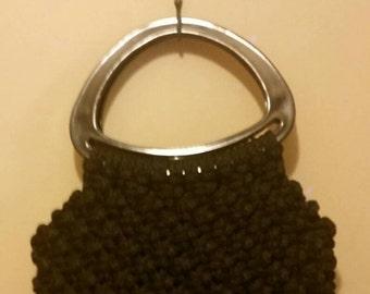 Black Crochet Tote Purse