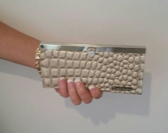 Vintage Suisse Clutch Wallet Mother of Pearl Style