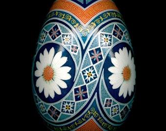 Made To Order Daisies Pysanka Batik Egg Art EBSQ Plus