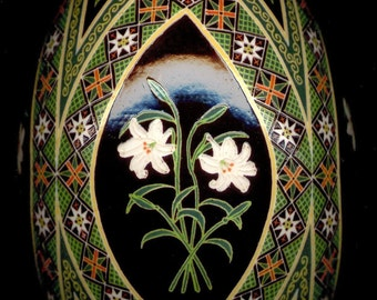 Made To Order: Easter Lily Pysanka  Floral Series  EBSQ Juried Plus