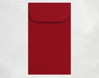 100 red mini envelopes notched edge gift certificate etsy