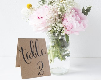 Tented Wedding Table Number Signs, Double Sided Table Cards, Tented Table Decor, Tented Table Numbers