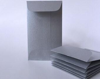 Wedding navy blue envelopes 100 coin envelope business etsy 100 metallic silver envelopes mini envelope business card holder bulk envelopes colourmoves