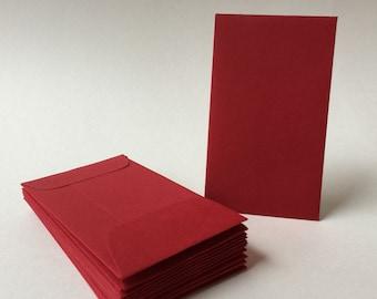 25 red mini envelopes wedding envelopes gift enclosure red etsy