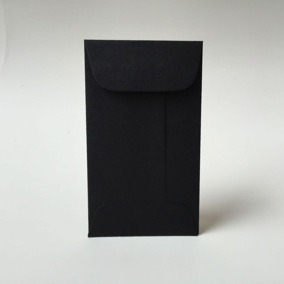 25 black mini envelopes with flap business card envelopes etsy image 0 reheart Images