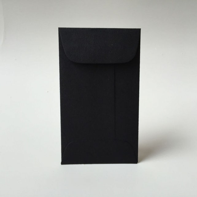 25 black mini envelopes with flap business card envelopes etsy image 0 colourmoves