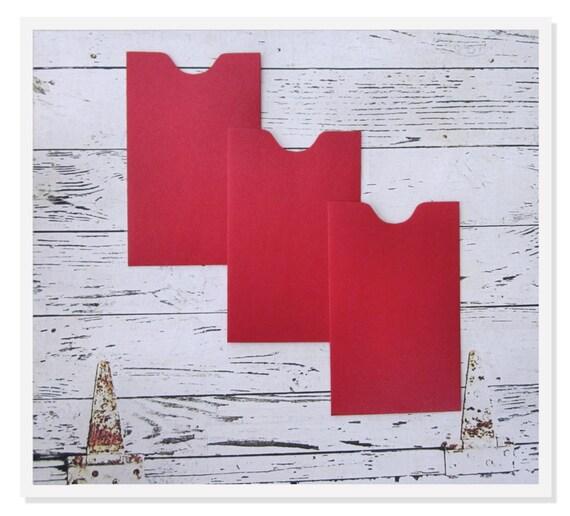 100 Mini Enveloppes En Rouge De Certificat Cadeau