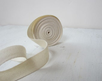 Natural Twill Tape Ribbon, 3/4 inch wide, Cotton Twill Tape, 5 yards