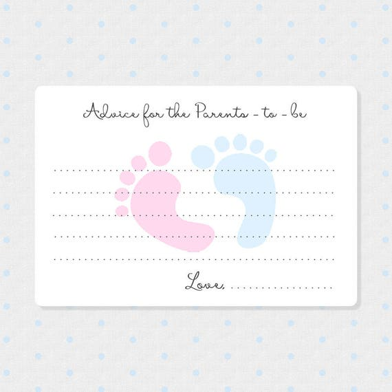 50 Baby Reveal Advice Cards Mommy To Be Wish Cards F01